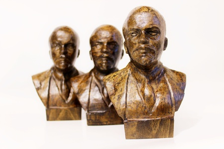 Sculpture of wood carved  Lenin photo