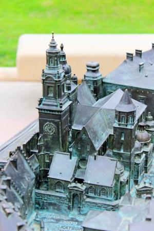 wawel: Wawel castle - bronze model Editorial