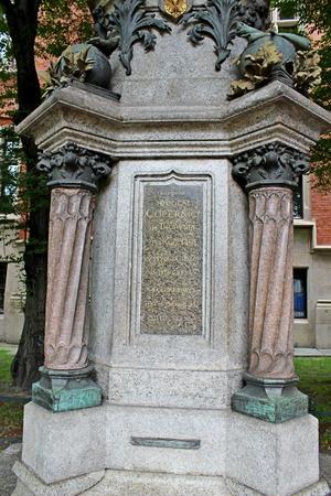 Nicolaus Copernicus monument - detail, Jagiellonian University, Poland