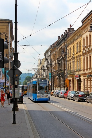 Streets in Krakow, Poland