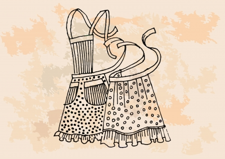 Retro apron set  Vector