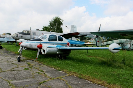 fixed wing aircraft: Small plane, Polish Aviation Museum, Cracow