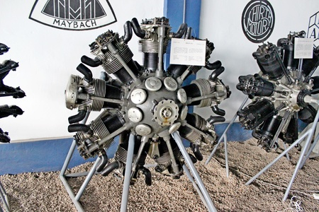 A radial airplane engine.