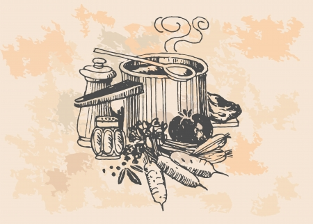 retro cooking pot