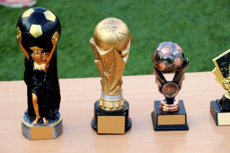simple soccer trophies