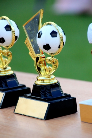 simple soccer trophies photo
