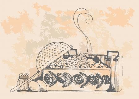 Vintage pasta   Vector