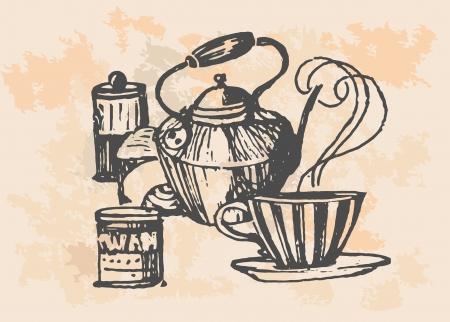 coffee collection - hand drawn illustration Reklamní fotografie - 21330031