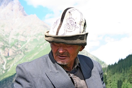 charro: Kirguist?jinete en Tien Shan monta? Editorial