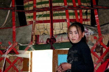 issyk kul: Yurt camp in central Asia
