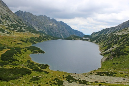 Mountains Tatry in Poland - valley of five ponds  photo