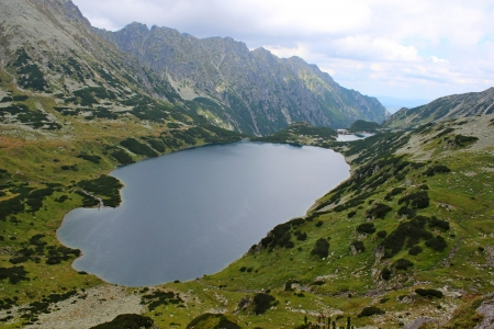 View of 5 lakes valley in High Tatras