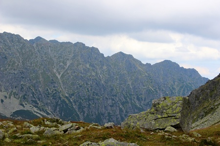 Mountains Tatry at Poland - valley of five ponds  photo