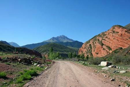 kyrgyzstan: Monta�as Tien Shan, Kirguizist�n Foto de archivo