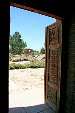 mausoleum: Kharakhanid Mausoleum in Uzgen, Kyrgyzstan Editorial