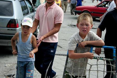 kyrgyzstan: Bazaar in Kyrgyzstan  Editorial
