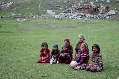 Uzbek children in Arslanbob, Kyrgystan