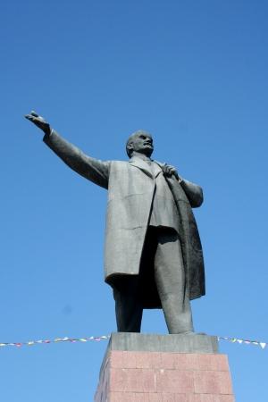 lenin: Statue of Lenin - Osh, Kyrgyzstan Editorial