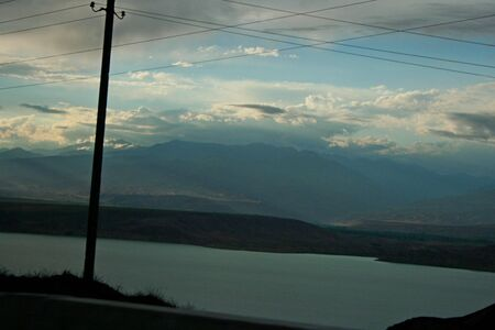 kyrgyzstan: Toktogul lago regi?n, Kirguist?n Foto de archivo