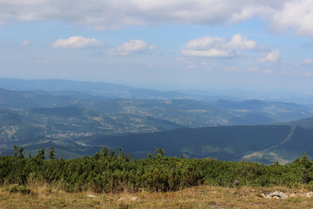 Peak of the Babia Mountain a massif situated in the Western Beskidy Mountains, Poland photo