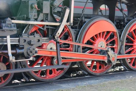 Wheels of Steam Locomotive  photo