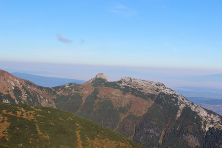 giewont: View from Kasprowy wierch in Tatra mountains, Poland