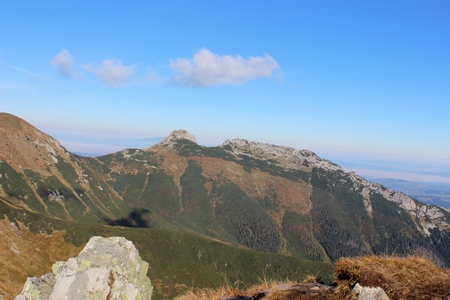 giewont: Giewont - Famous mountain in Polish Tatras with a cross on top