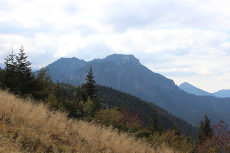 giewont: Giewont - Famous mountain in Polish Tatras with a cross on top Stock Photo