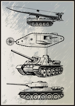 Tank Vector Set  Vector