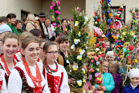 Easter palm competition - Polish countryside