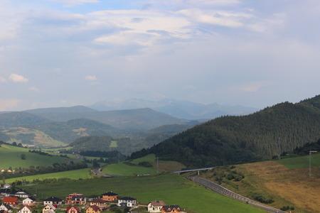 nosferatu: View from Old Orava castle in Slovakia Stock Photo