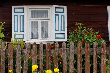 Traditonal houses in Podlasie, Poland