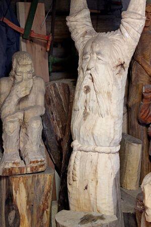 Wood carving workshop in Podlasie, Kanuki, Poland Publikacyjne