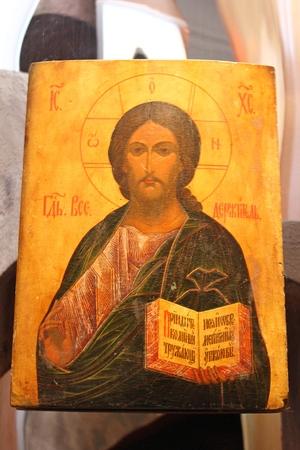 saintliness: Antique orthodox icon in Syprasl, Podlasie, Poland