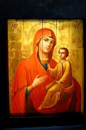Antique orthodox icon in Syprasl, Podlasie, Poland