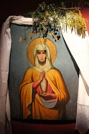 godliness: Antique orthodox icon in Syprasl, Podlasie, Poland
