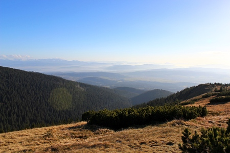 gora: View from Mala Babia Gora, Beskidy, Poland Stock Photo