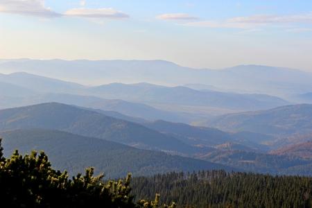 gora: View from Mala Babia Gora, Beskidy, Poland Stock Photo