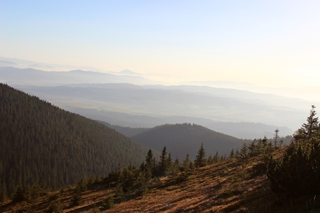 gora: View from Babia Gora, Beskidy, Poland