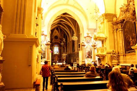 evangelist: The interior of gothic chapel of st. John the Evangelist, Slovakia Editorial