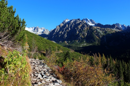 Mengusovska valley in High Tatras, Slovakia