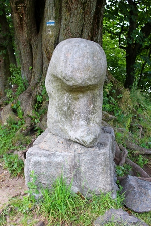 Ancient (probably Celtic) cult sculpture of a bear at the top of Mount Sleza