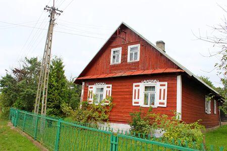 Traditonal houses in Podlasie, Poland