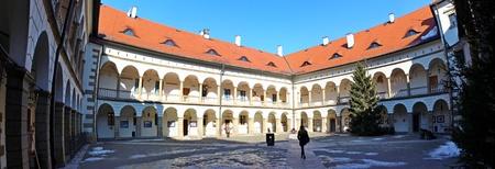 malone: Renaissance castle in Niepolomice, Poland, Panorama Editorial