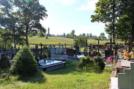 poland: Cemetery in Krynki, Podlasie, Poland
