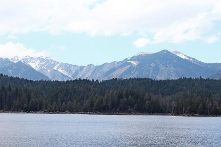 Eibsee lake, Bavaria, Germany Stock Photo