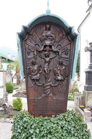 Bavarian Cemetery in Oberammergau Editorial