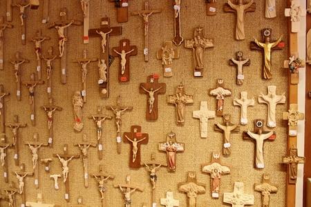 Wood carvings in Oberammergau, Germany Editorial