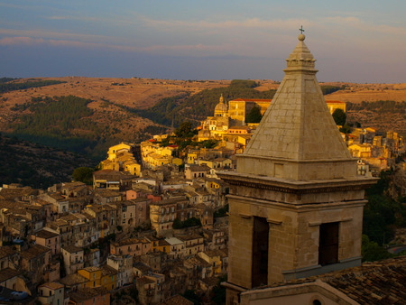 Ragusa old town during sunset