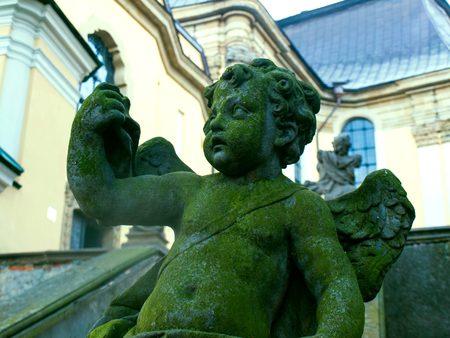 putto: Putto in Krzeszow monastery, Poland
